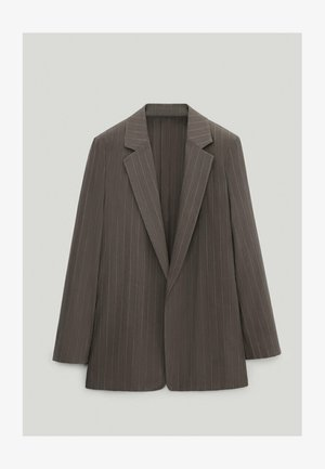 MIT NADELSTREIFEN  - Blazer - light grey