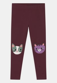 Lindex - KNEEPATCH CATS - Leggings - Trousers - dark lilac - 0