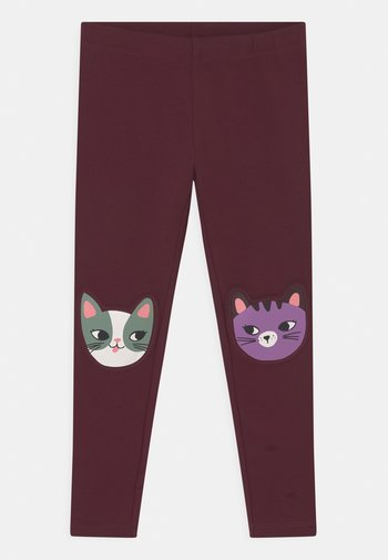 KNEEPATCH CATS - Legging - dark lilac