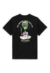 Vans - MN JUST VISITING SS - T-shirt med print - black - 1