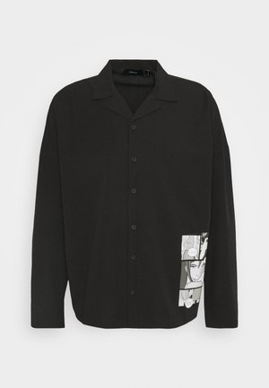 GALLUCKS X NU IN COLLECTION FRONT PRINT OPEN COLLAR - Shirt - black