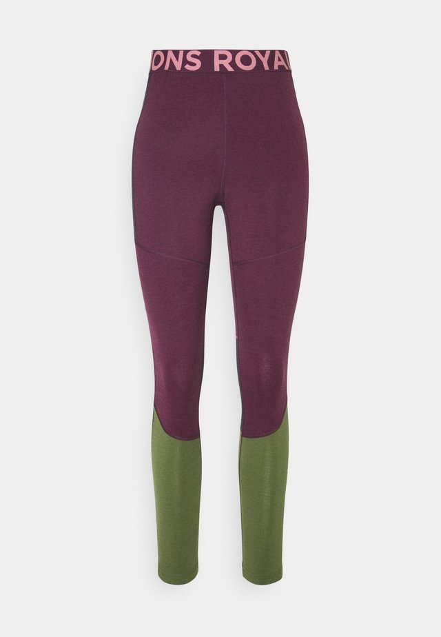 OLYMPUS 3.0 LEGGING  - Base layer - blackberry/avocado