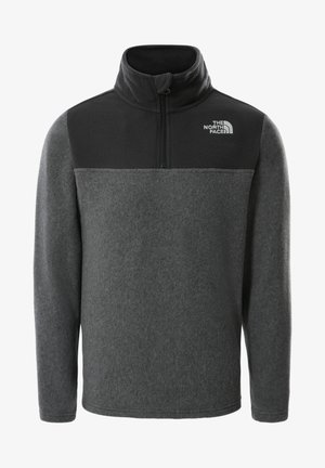 Y GLACIER BLOCKED 1/4 ZIP (RECYCLED) - Fleece jumper - tnfmdgreyhtr/tnfmdgreyhtr
