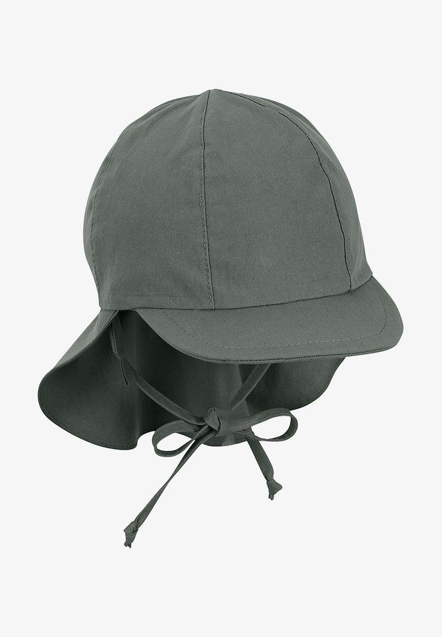 SCHIRM MIT NACKENSCHUTZ - Cap - dunkelgrün