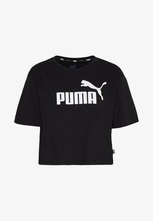 CROPPED LOGO TEE - T-shirt con stampa - cotton black