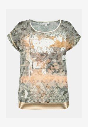 T-shirt print - khakigrün