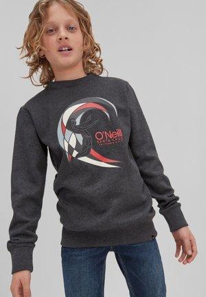 CIRCLE SURFER CREW - Sweatshirt - dark grey melee