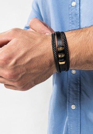 Bracelet - schwarz gold