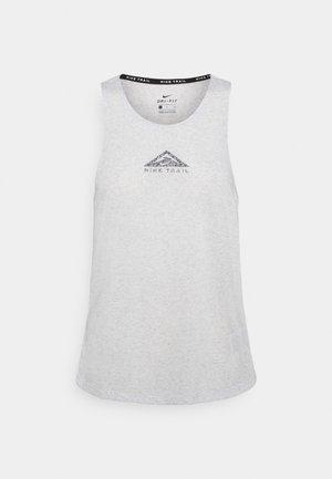 CITY SLEEK TANK TRAIL - Sports shirt - light smoke grey/grey fog/heather/silver