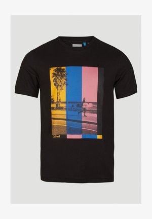 Print T-shirt - black out