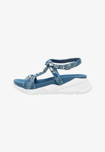 Wedge sandals - blue