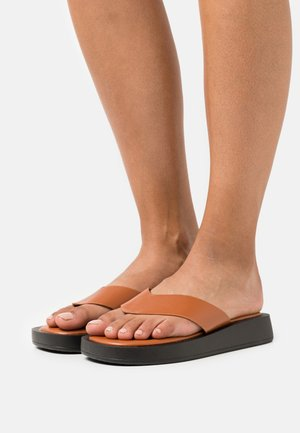 DORNEA - T-bar sandals - brown
