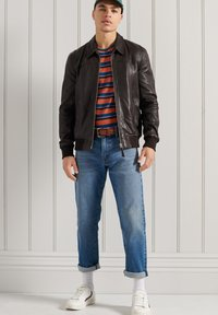 Superdry - INDIE CLUB JACKET - Faux leather jacket - brown paloma leather - 0