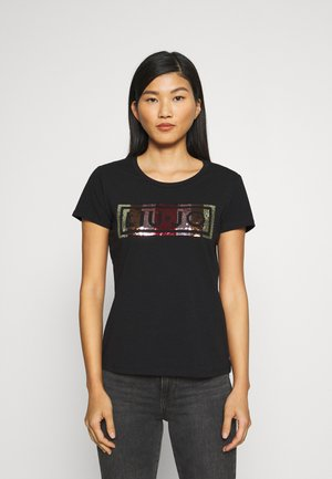 T-shirts med print - nero