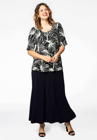 Yoek - Maxi skirt - navy - 1