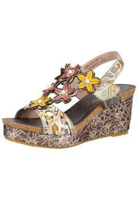 LAURA VITA - Platform sandals - grey - 2