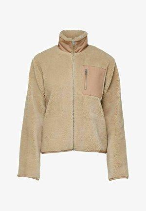 STEHKRAGEN REISSVERSCHLUSS - Fleece jacket - beige