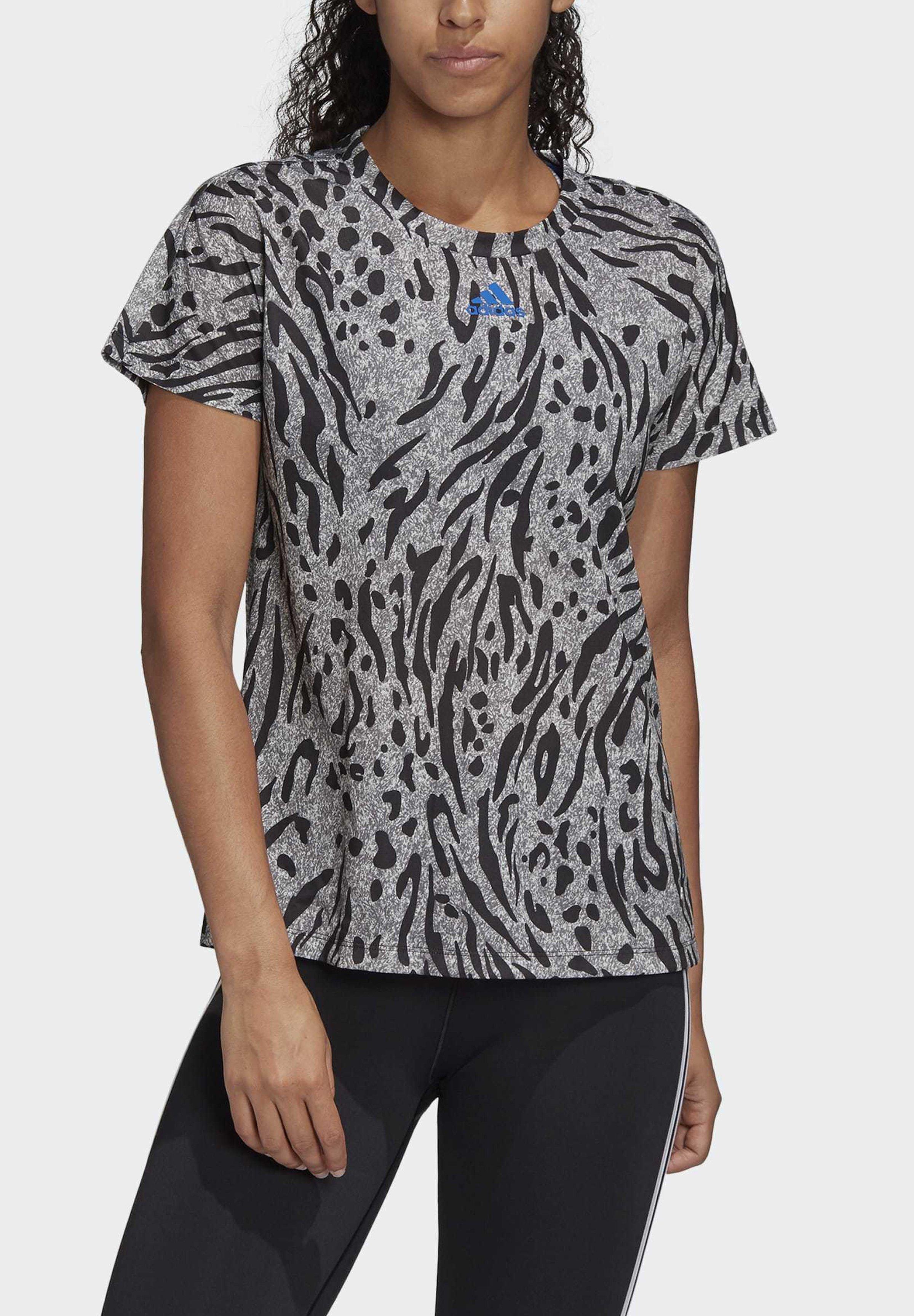 adidas Performance ALLOVER PRINT T-SHIRT - Print T-shirt - grey y5O1y