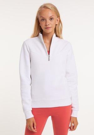 Sweater met rits - white