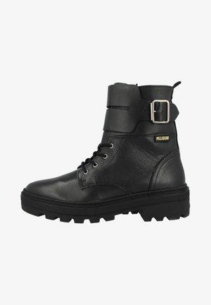 Lace-up ankle boots - black-black