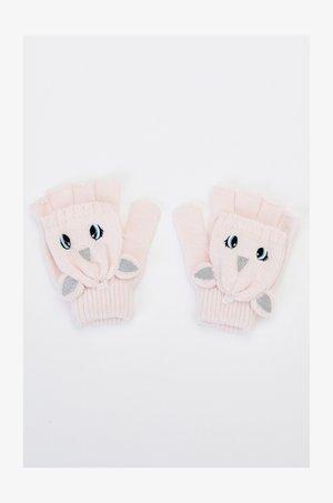 Fingerless gloves - pink