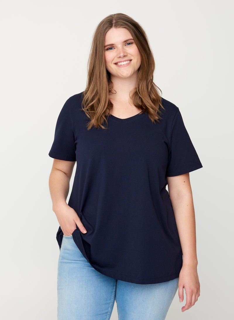 Zizzi - Basic T-shirt - dark blue