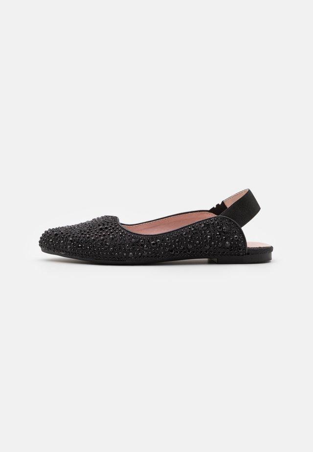 Slingback ballet pumps - glitter nero
