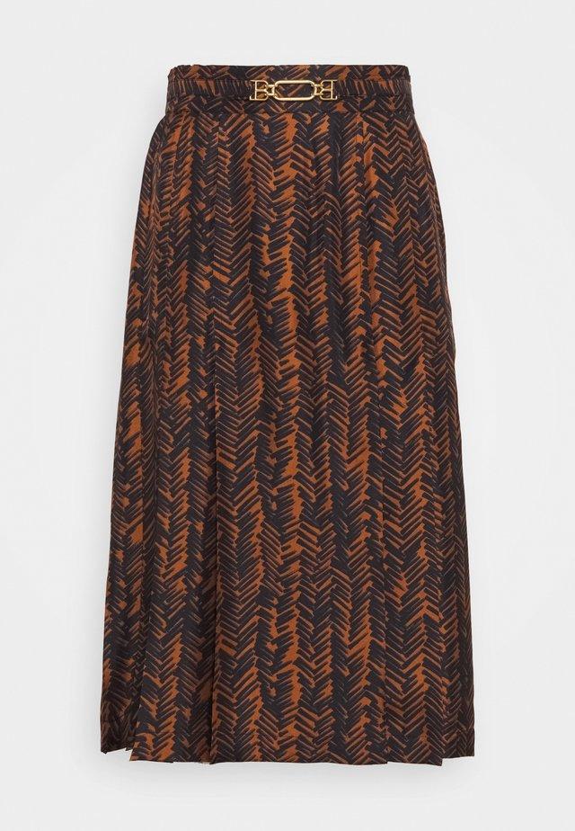 PRINT SKIRT - Spódnica trapezowa - multiblack