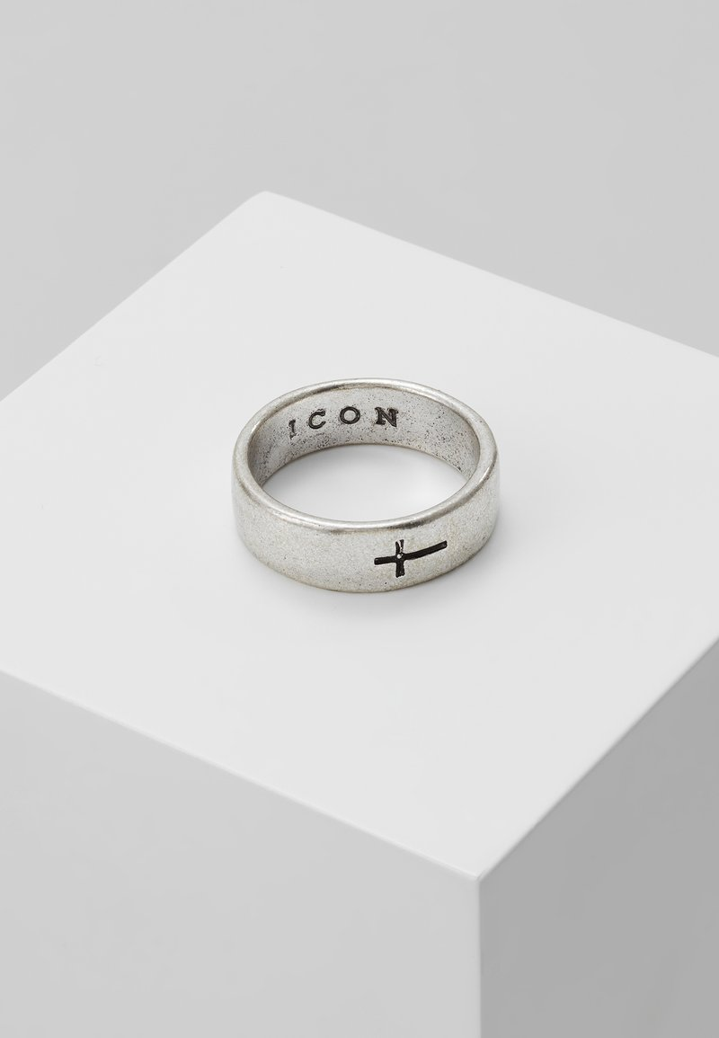 Icon Brand - CROSS BAND RING - Ring - silver-coloured