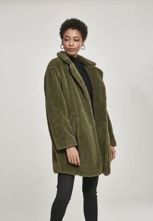 Winter coat - mottled olive