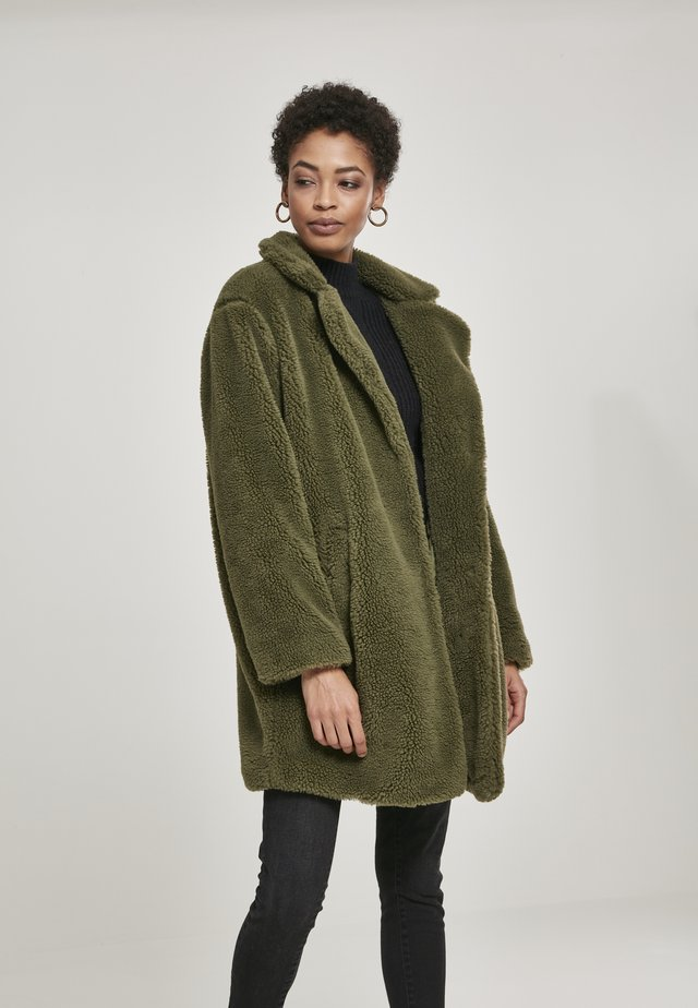 Winter coat - mottled olive
