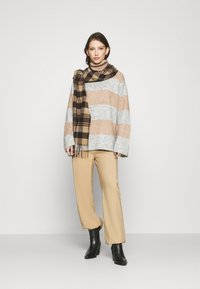 YAS - YASALLU STRIPE   - Jumper - light grey melange/tawny brown - 1