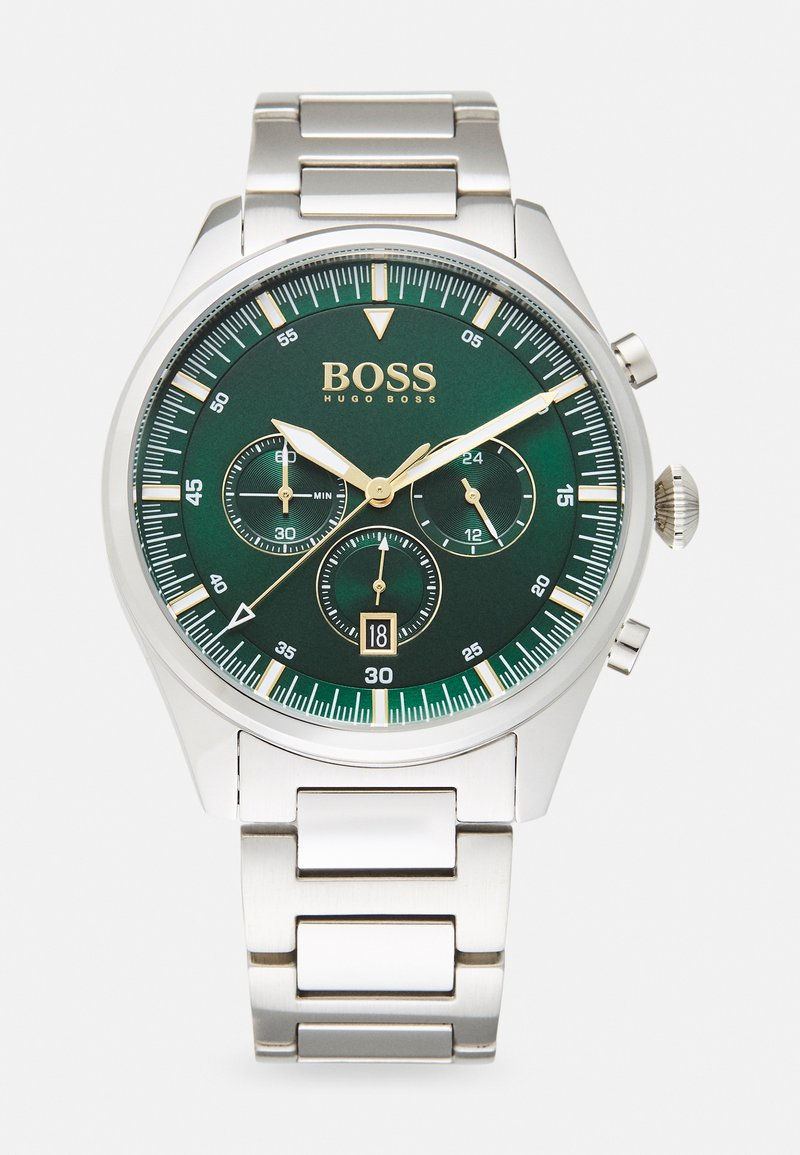 BOSS - PIONEER - Cronógrafo - silver-coloured/green