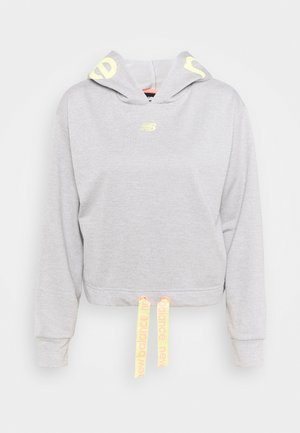 RELENTLESS CINCHED HEM HOODIE - Collegepaita - athletic grey