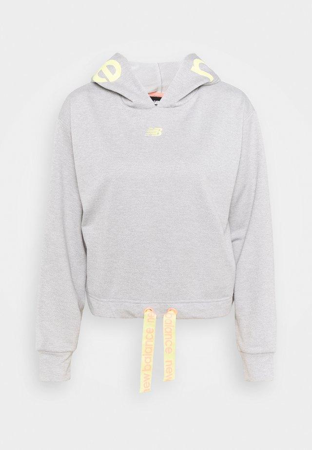 RELENTLESS CINCHED HEM HOODIE - Sweatshirt - athletic grey