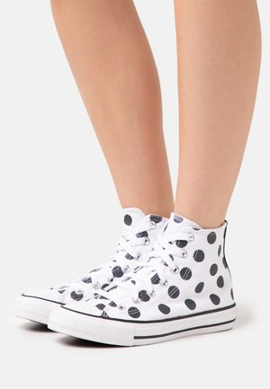 CHUCK TAYLOR ALL STAR POLKA DOT GLITTER - Höga sneakers - white/black