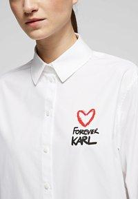 KARL LAGERFELD - Button-down blouse - white - 4