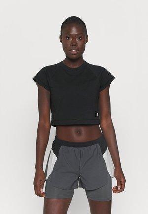 RECCO CROP TEE - T-shirt con stampa - black
