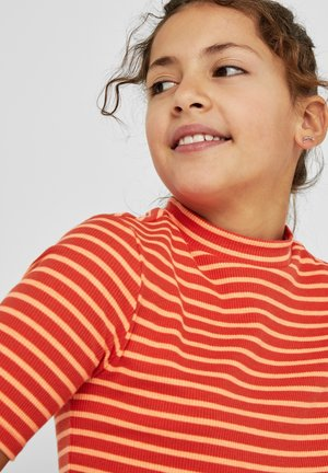 Print T-shirt - orange stripes