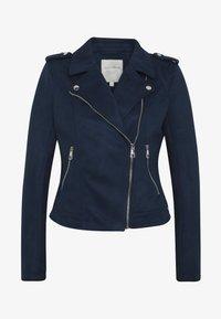 TOM TAILOR DENIM - Faux leather jacket - sky captain blue - 3