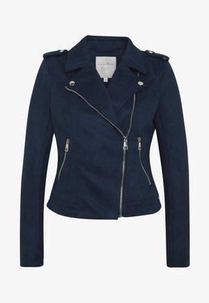 Faux leather jacket - sky captain blue