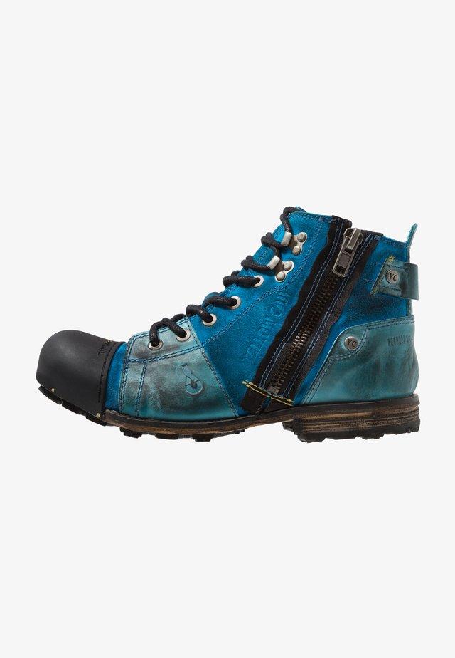 INDUSTRIAL - Šněrovací kotníkové boty - light blue