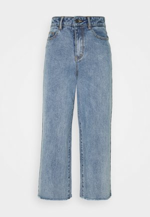 OBJSAVANNAH WIDE - Jeans baggy - light blue denim