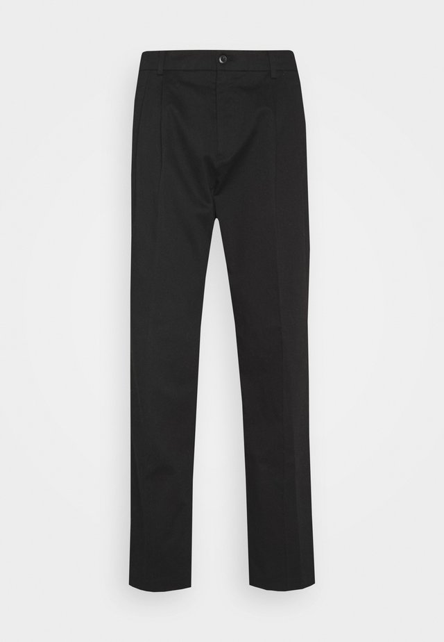 LINCOLN WIDE TROUSERS - Pantalon classique - black