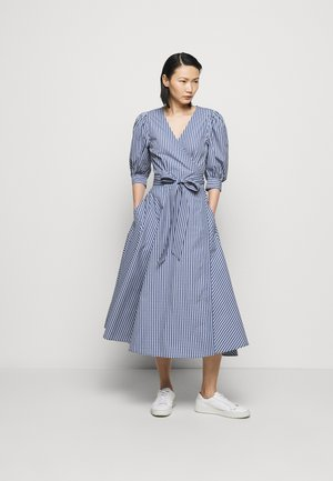 HEAVY WEIGHT - Day dress - blue/white