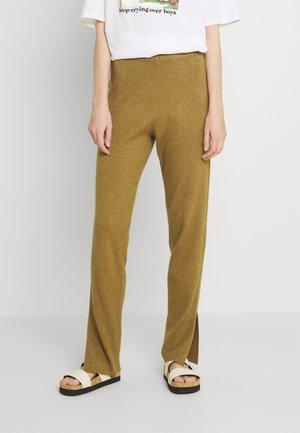 Trousers - butternut/melange