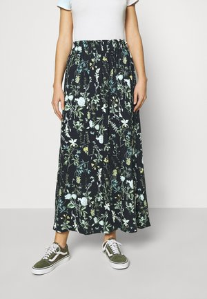 OBJALBA LONG SKIRT - Maxi skirt - sky captain/multi colour