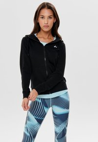 ONLY Play - ONPELINA ZIP HOOD - Zip-up hoodie - black - 0