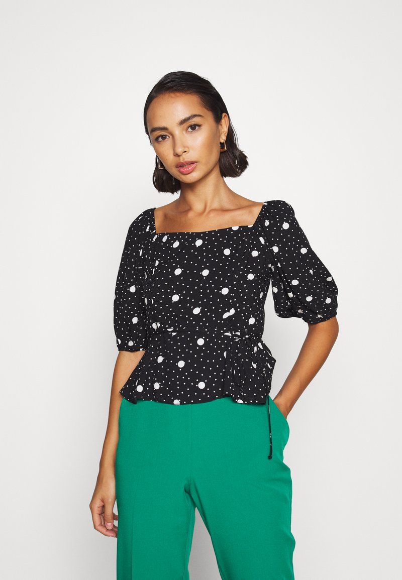 New Look Petite - ESMARELDA NECK TOP - Blouse - black