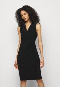 Lauren Ralph Lauren - CLASSIC DRESS - Shift dress - black - 0